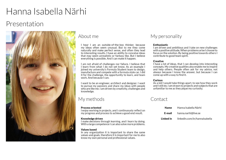 Hanna Isabella Närhi Presentation