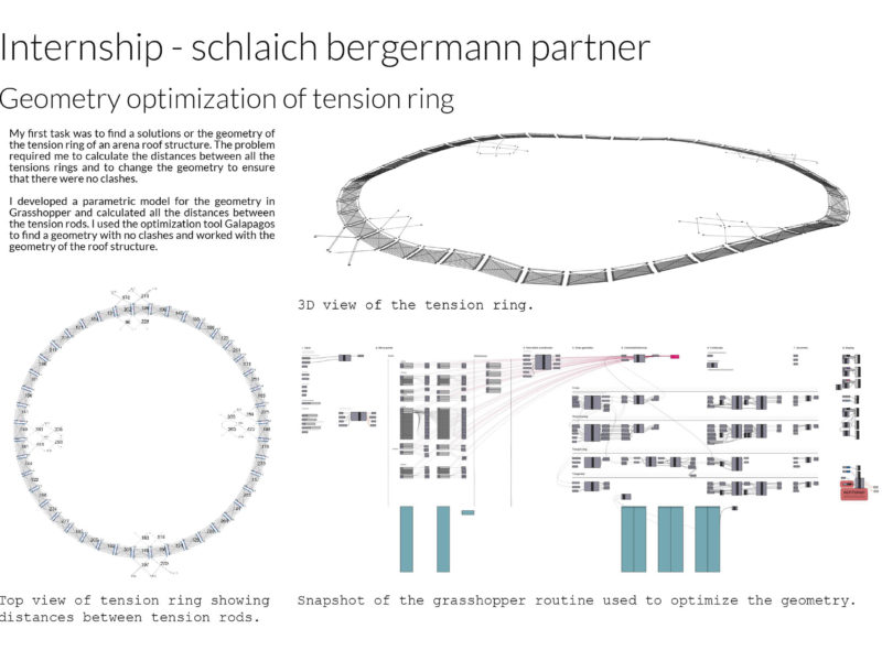 Internship sclaich bergermann partner - Geometry optimization